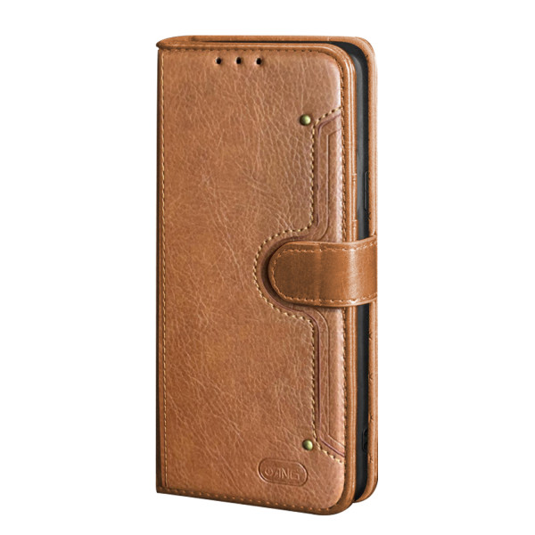 ANG Premium Leather Flip Book Case For iPhone 12 Pro Max 6.7