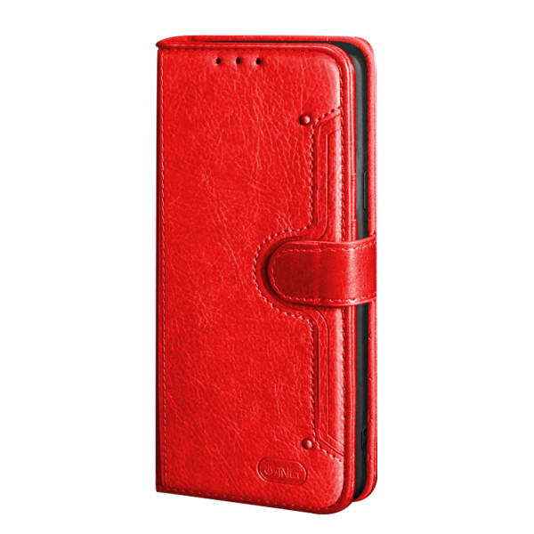 ANG Premium Leather Flip Book Case For iPhone XS Max