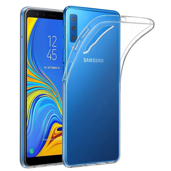 Clear Soft TPU Gel Protective Case for Samsung Galaxy A7 Plus 2018