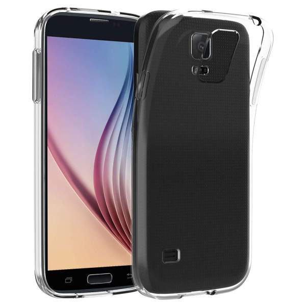 Clear Soft TPU Gel Protective Case For Samsung Galaxy S5