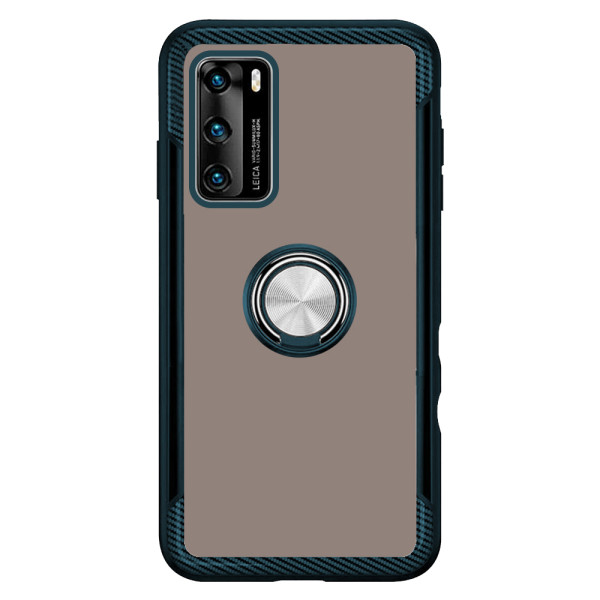 Compatible 2 in 1 Ring Protective Case For Huawei P40