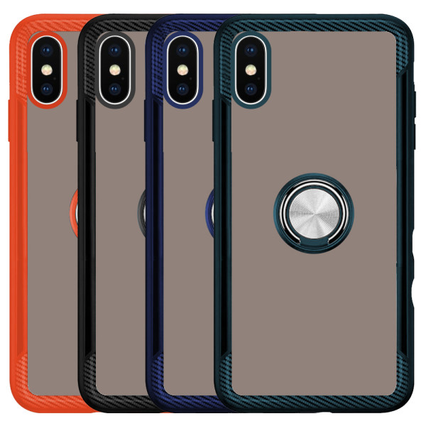 Compatible 2 in 1 Ring Protective Case For iPhone X