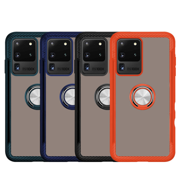 Compatible 2 in 1 Ring Protective Case For Samsung Galaxy S20 Ultra SM-G988B