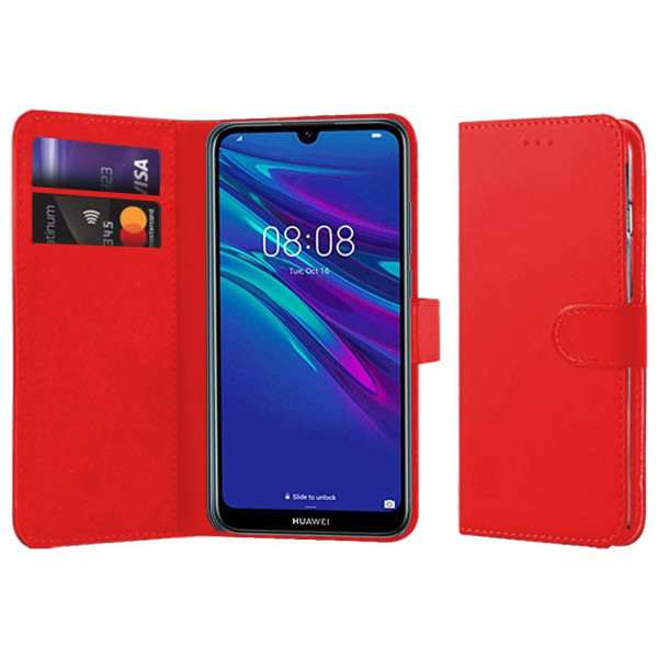 Compatible Book Case With Wallet Slot For Huawei Y6 2019