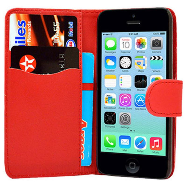 Compatible Book Case With Wallet Slot For iPhone 6/6S Plus