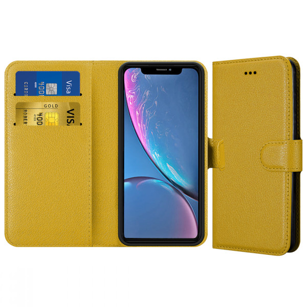 Compatible Book Case With Wallet Slot For iPhone XR