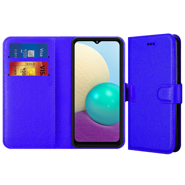 Compatible Book Case With Wallet Slot For Samsung Galaxy A02 SM-A022F