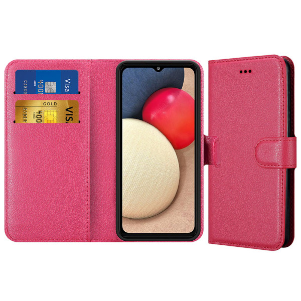 Compatible Book Case With Wallet Slot For Samsung Galaxy A02S SM-A025F
