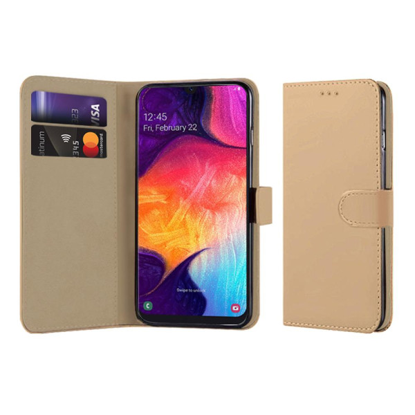 Compatible Book Case With Wallet Slot For Samsung Galaxy A50 SM-A505