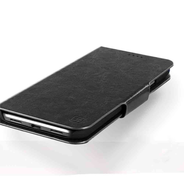 Compatible Book Case With Wallet Slot For Samsung Galaxy A6 Plus 2018 Black