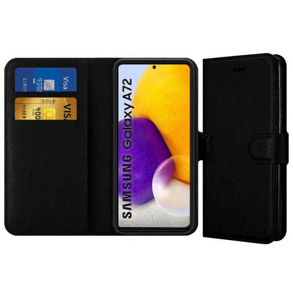 Compatible Book Case With Wallet Slot For Samsung Galaxy A72 5G SM-A726B