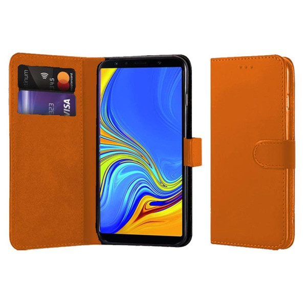 Compatible Book Case With Wallet Slot For Samsung Galaxy A7 2018
