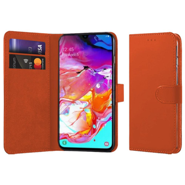 Compatible Book Case With Wallet Slot For Samsung Galaxy A80 SM-A805