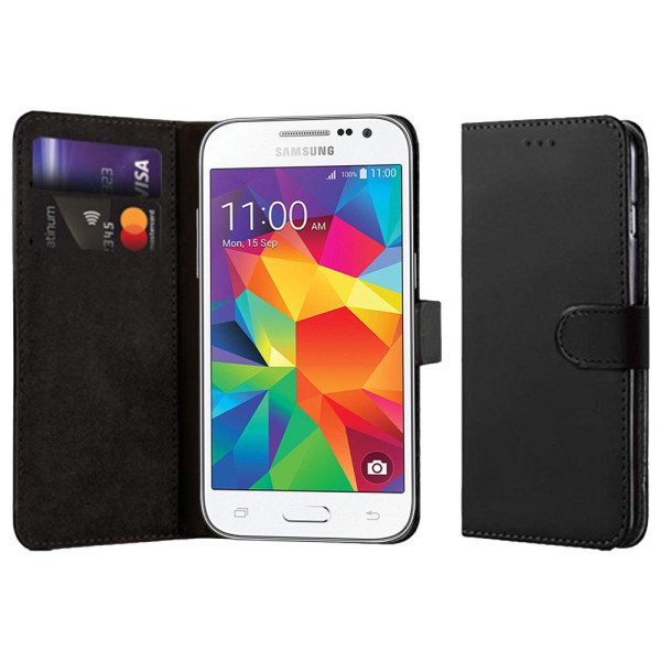 Compatible Book Case With Wallet Slot for Samsung Galaxy Core Prime