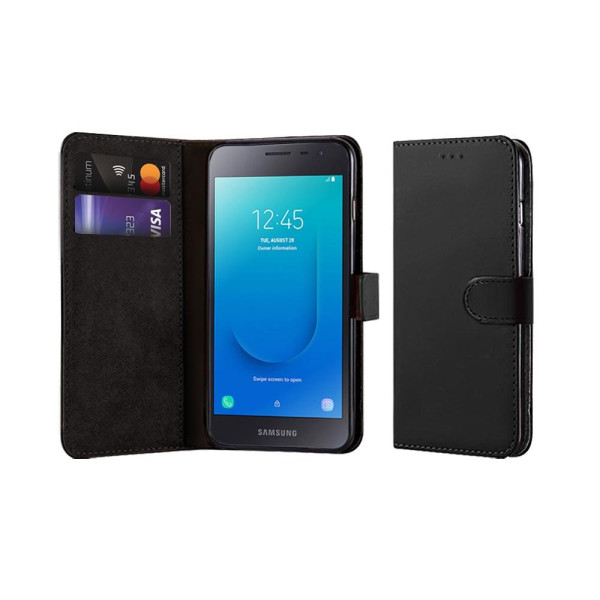 Compatible Book Case With Wallet Slot For Samsung Galaxy J2 Core