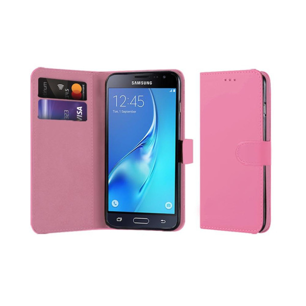 Compatible Book Case With Wallet Slot For Samsung Galaxy J3 2016