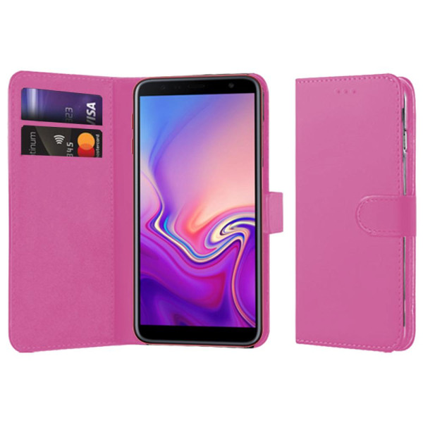 Compatible Book Case With Wallet Slot For Samsung Galaxy J6 Plus