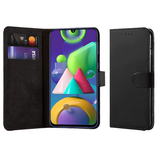 Compatible Book Case With Wallet Slot For Samsung Galaxy M21