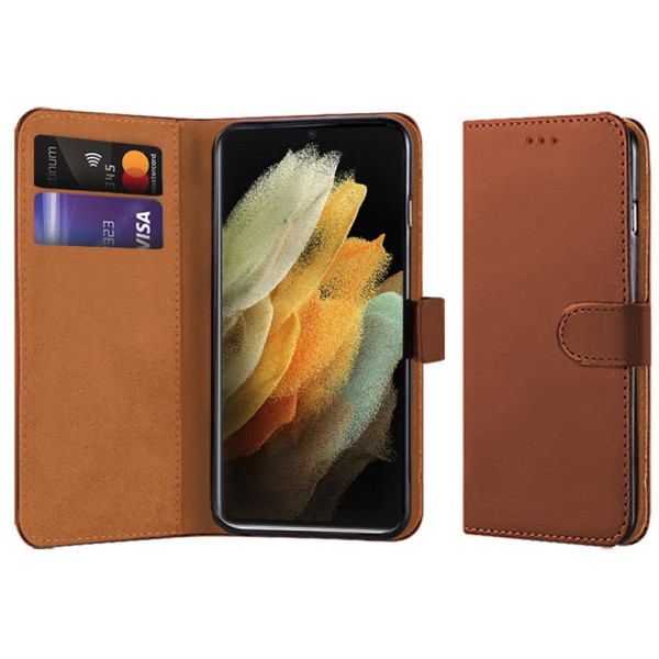 Compatible Book Case With Wallet Slot For Samsung Galaxy S21 Ultra