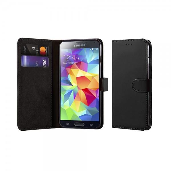Compatible Book Case With Wallet Slot For Samsung Galaxy S5 I9600