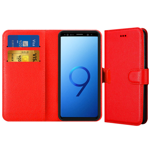 Compatible Book Case With Wallet Slot For Samsung Galaxy S9 G960F