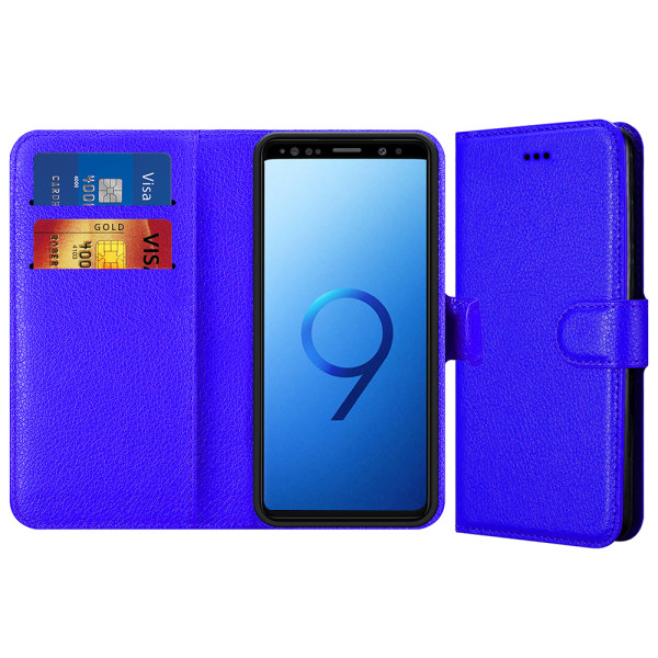 Compatible Book Case With Wallet Slot For Samsung Galaxy S9 Plus G965F