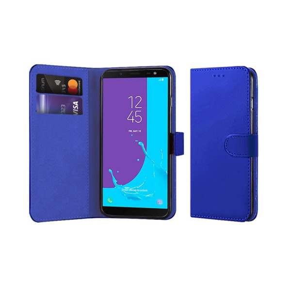 Compatible Book Case With Wallet Slot For Samsung J6 2018