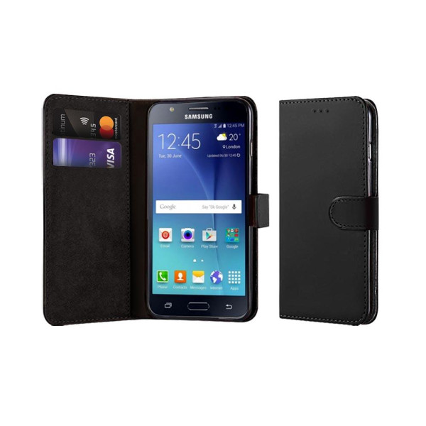 Compatible Book Case With Wallet Slot For Samsung J7 J710 2016