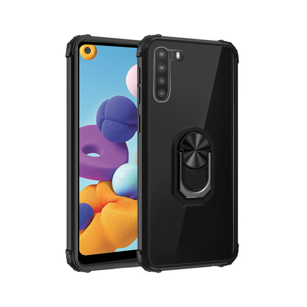 Compatible Fashion Case With Ring Holder For Samsung Galaxy A21