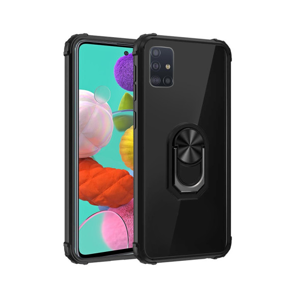 Compatible Fashion Case With Ring Holder For Samsung Galaxy A51