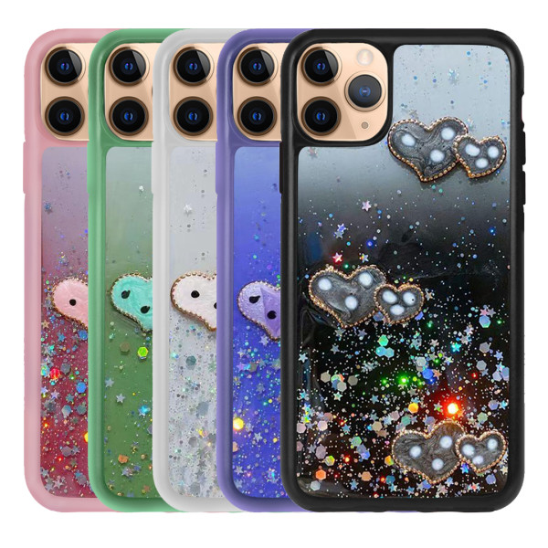Compatible Glitter Clear Case For iPhone 11 Pro 5.8