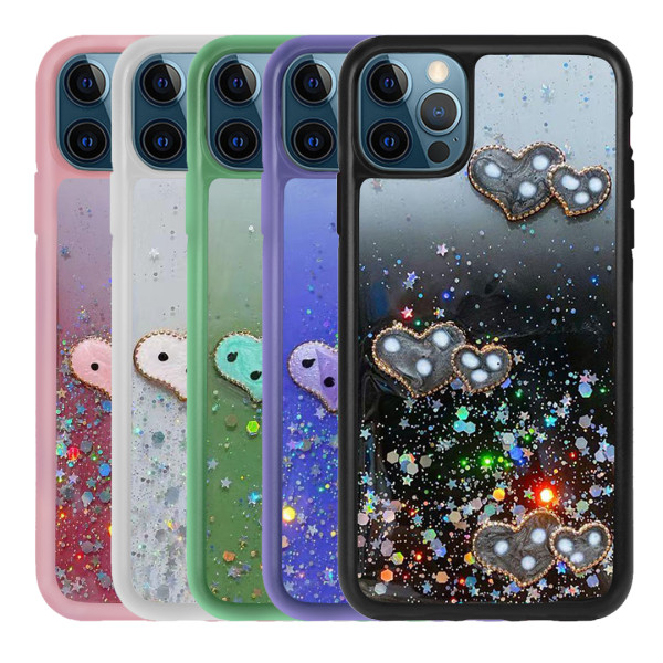 Compatible Glitter Clear Case For iPhone 12/12 Pro 6.1