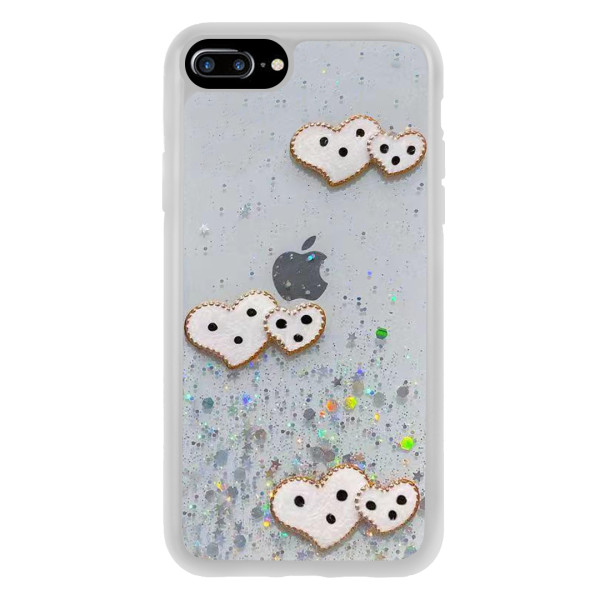 Compatible Glitter Clear Case For iPhone 7/8 Plus