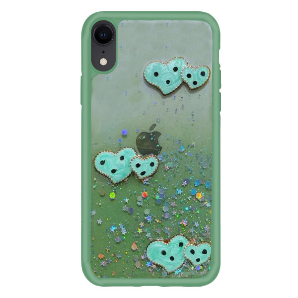 Compatible Glitter Clear Case For iPhone XR
