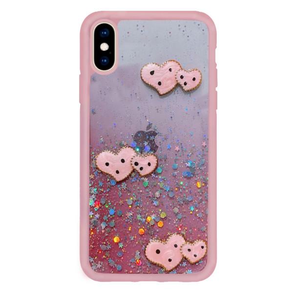 Compatible Glitter Clear Case For iPhone XS Max