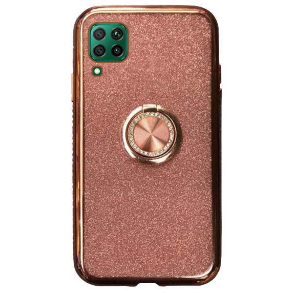 Compatible Glitter Gel Case With Finger Ring Holder For Huawei P40 Lite