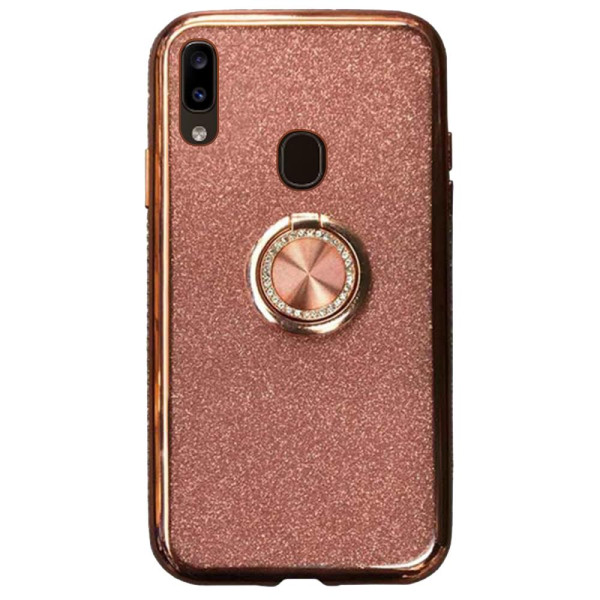 Compatible Glitter Gel Case With Finger Ring Holder For Samsung Galaxy A20 SM-A205