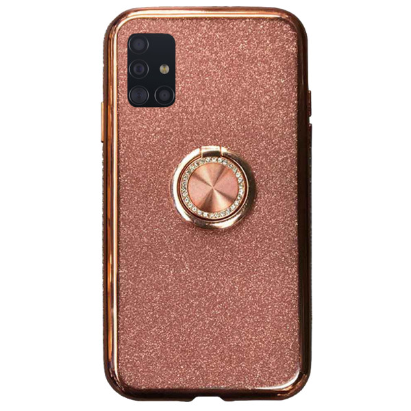 Compatible Glitter Gel Case With Finger Ring Holder For Samsung Galaxy A51 SM-A515f
