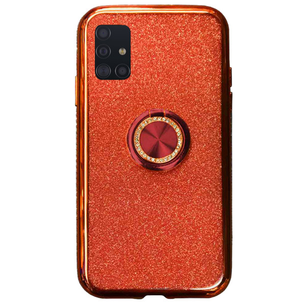 Compatible Glitter Gel Case With Finger Ring Holder For Samsung Galaxy A71 SM-A715f