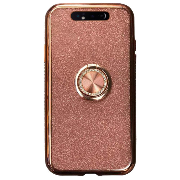 Compatible Glitter Gel Case With Finger Ring Holder For Samsung Galaxy A80 SM-A805
