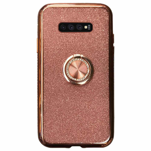 Compatible Glitter Gel Case With Finger Ring Holder For Samsung Galaxy S10 Plus