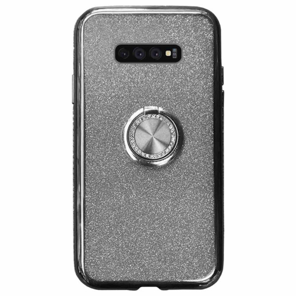 Compatible Glitter Gel Case With Finger Ring Holder For Samsung Galaxy S10E