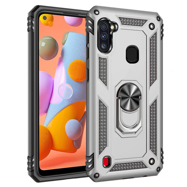Compatible Ring Armor Case for Samsung Galaxy A11 SM-A115f