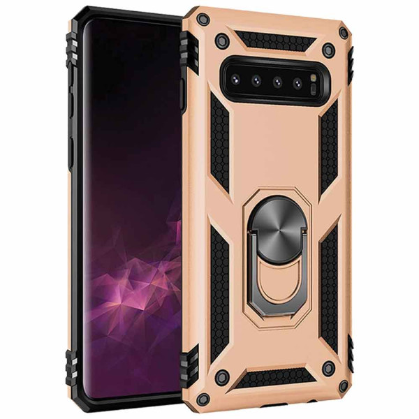 Compatible Ring Armor Case For Samsung Galaxy S10 Plus