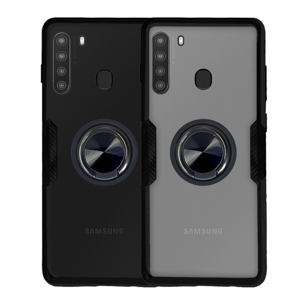 Compatible Ring Cover Case For Samsung Galaxy A21 SM-A215F