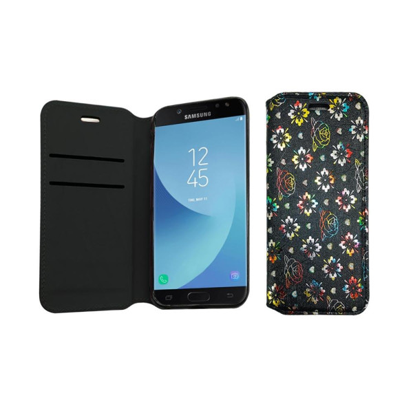 Diamond Book Case With Wallet Slot Compatible For Samsung J5 2017